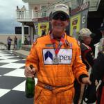 Driver: David Baker Celebrating his podium in class.