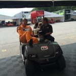 Todd Opperman, David Baker, and Jeff Mosing go for a ride
